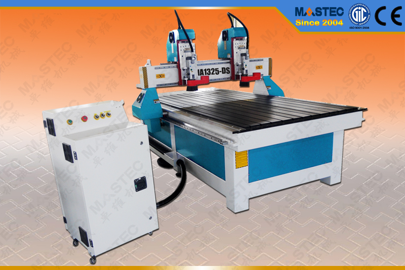 High Quality CNC Wood Router MA1325-DS with 2 Heads