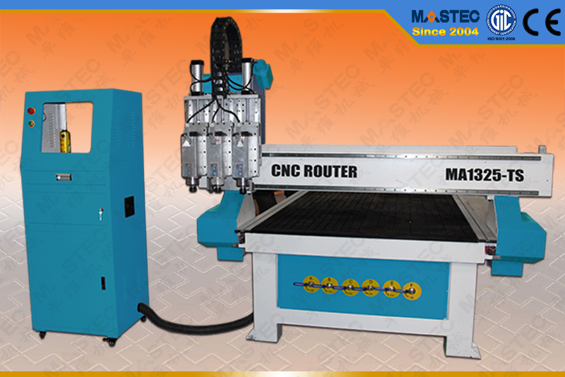 Multi-Process CNC Router With Three Spindles (MA1325-TS)