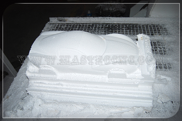 Simple Car Model by 4 Axis CNC Router Machine