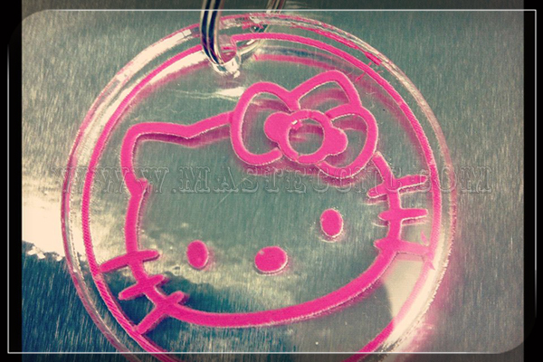 Acrylic Pendant Carving by Laser Engraving Machine