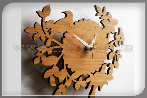 Bamboo Clock Engraved by Laser Engraving Machine