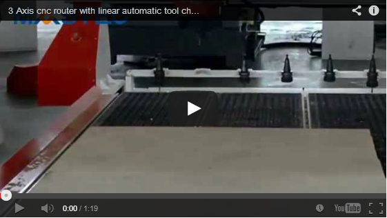 3 Axis ATC cnc router with linear automatic tool changer