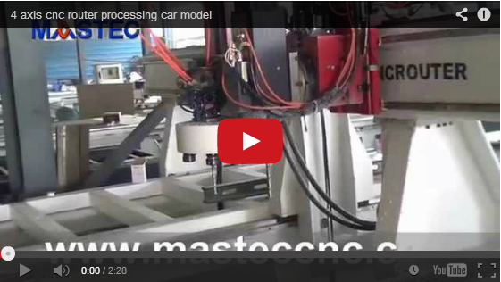 4 axis cnc router processing car model