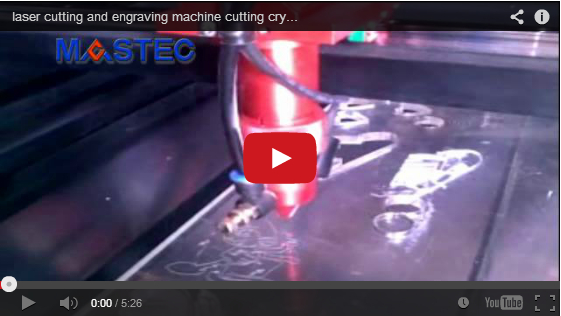 laser cutting and engraving machine cutting crystal